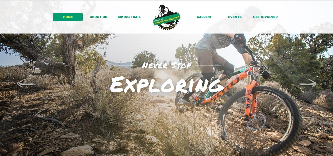 himalayan biking adventures theme nepal portfolio